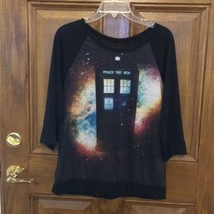 Tops - Doctor Who shirt and jewelry bundle.